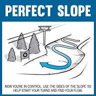 how to turn on a ski slope with arrows
